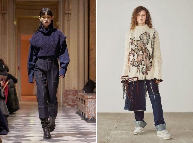 фармерки мода зима 2019