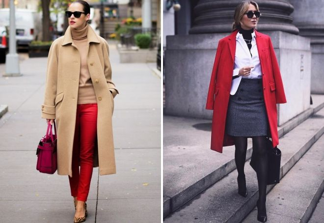с чем носить классическое пальто