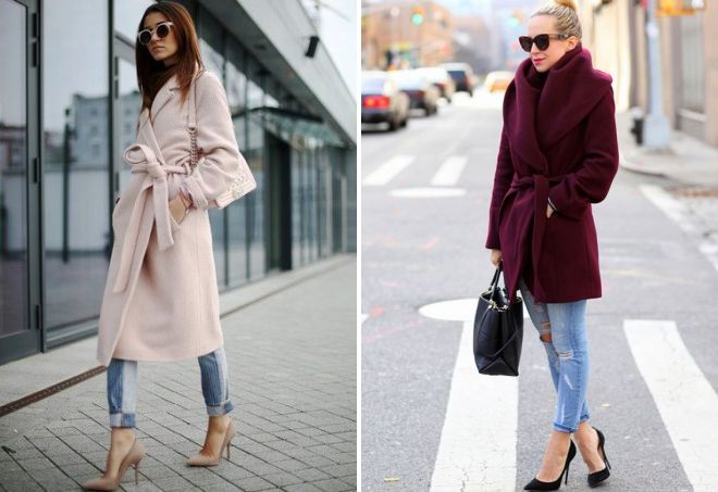 с чем носить пальто-халат