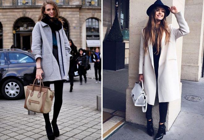 с чем носить прямое пальто
