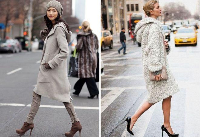 как носить пальто с капюшоном