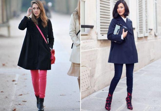 пальто-трапеция с чем носить
