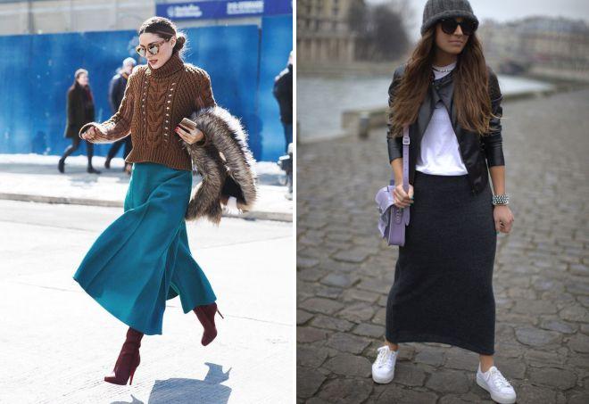 зимняя обувь с длинной юбкой