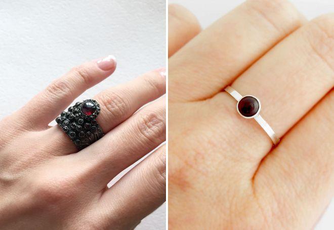 как выбрать кольцо с гранатом
