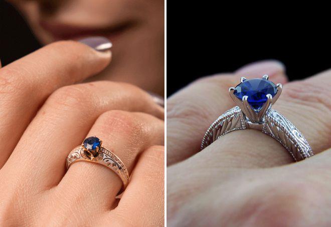 кольцо с натуральным сапфиром