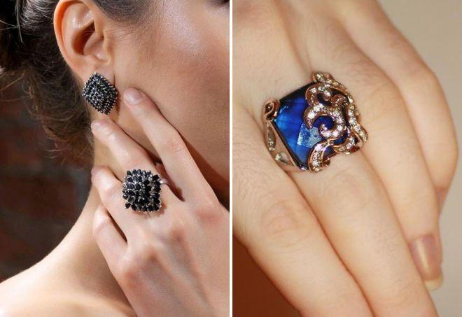 красивое кольцо с сапфиром