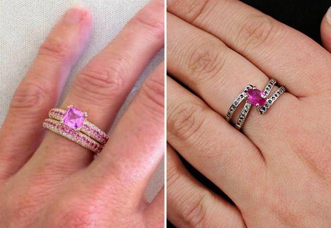 кольцо с розорвым сапфиром