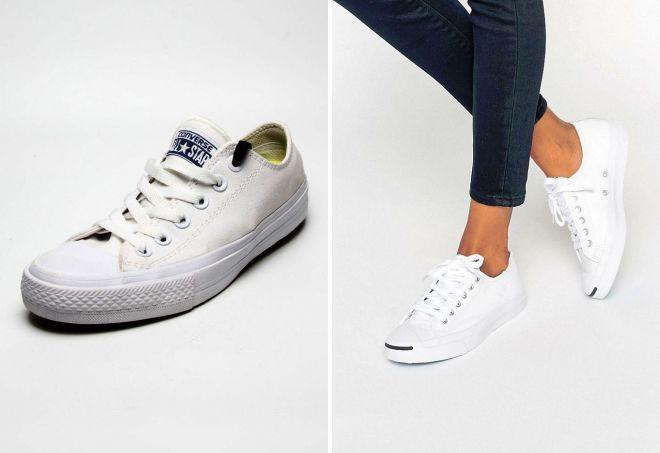 bb8a0d6e Модные белые женские кеды – Converse и Lacoste, Адидас и Найк ...