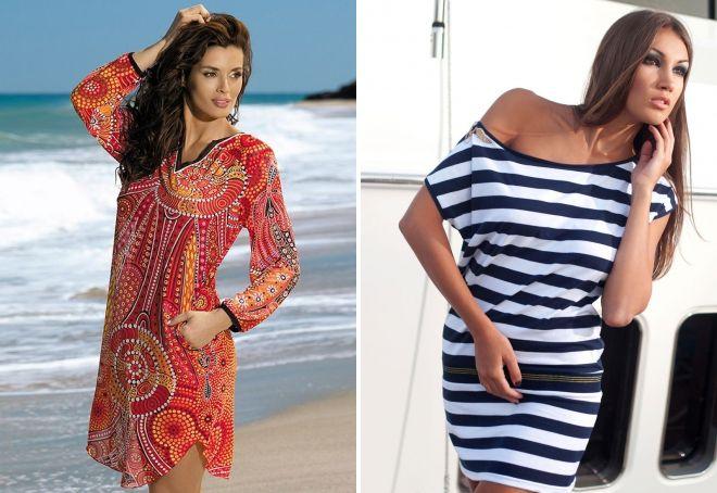 c5568ff8acc74 Модная пляжная одежда 2017 – женские шорты и туники, красивые платья ...