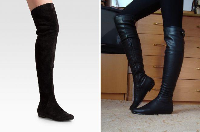 женские ботфорты без каблука