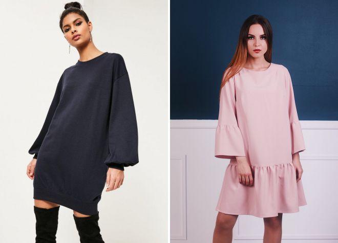 модные платья оверсайз 2018