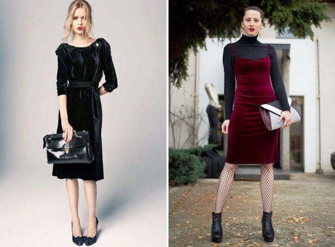 бархатное платье образы