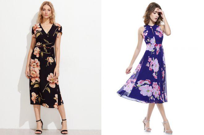 повседневные платья миди на лето 2018
