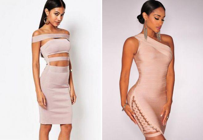 bb882203d09 бандажное платье с вырезом бежевое бандажное платье