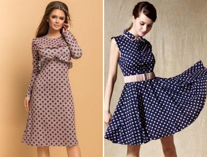 fb280dc165e Модное платье в горох – короткое