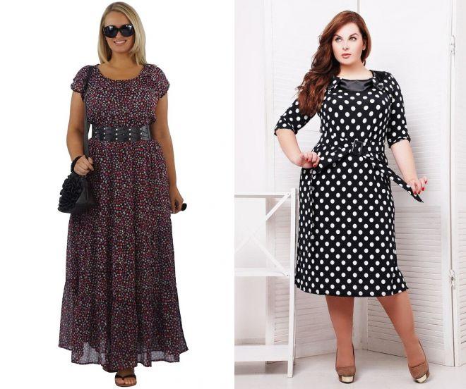 120f265995a платье в горох для полных женщин ...