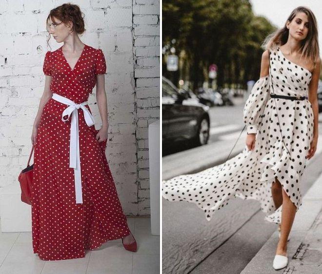 Модное платье в горох – короткое 51acb41bb3f84