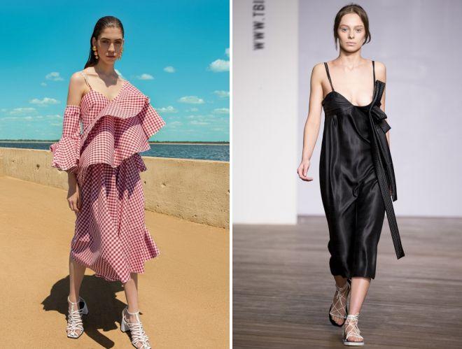 платья и сарафаны на лето 2018 года