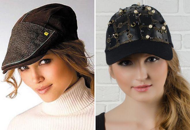 модные женские кожаные кепки 2018 кепки 2018 294ec089ffedf