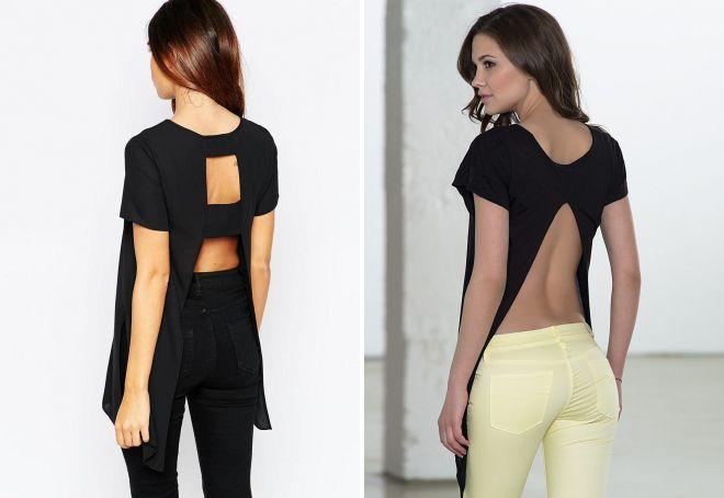 389d76f660f0 Модные женские длинные футболки для девушек – с разрезами по бокам ...