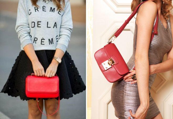 маленькая красная сумка