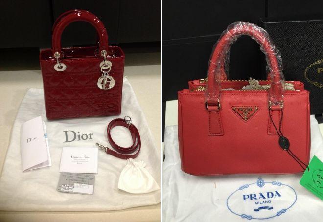 брендовые красные сумки