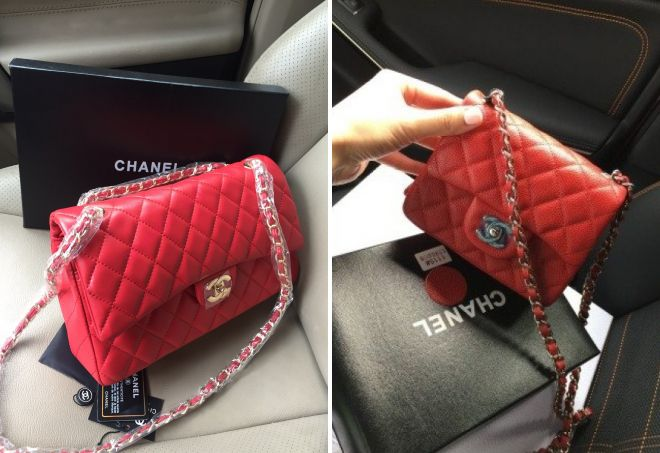 sac rouge Chanel