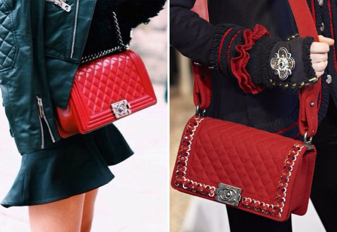 sac chanel rouge