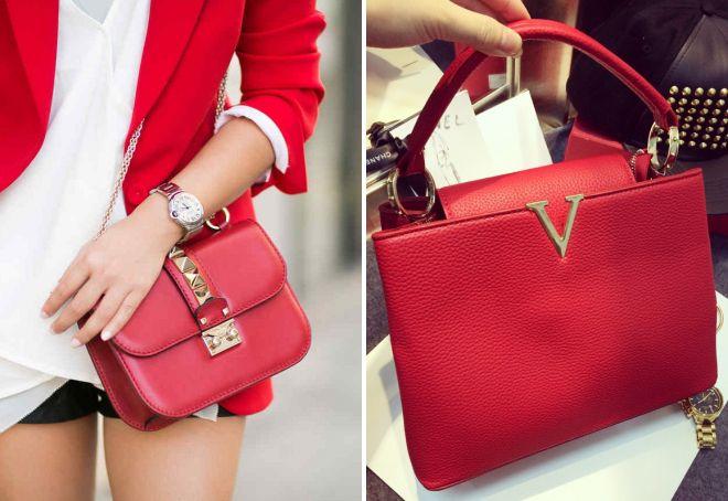 красная сумка Valentino