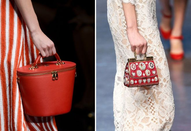 красная сумка Дольче Габбана