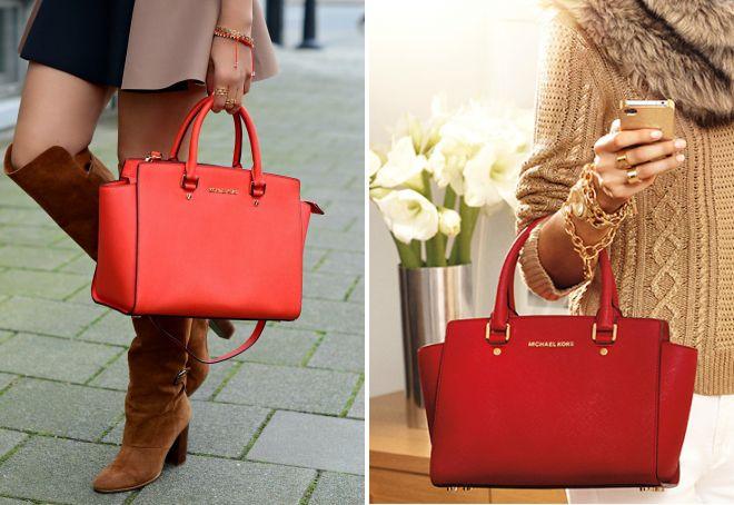 красная сумка Майкл Корс