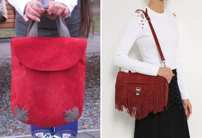 модные красные сумки 2017