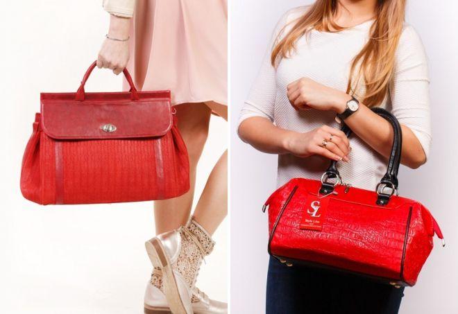женские сумки красного цвета