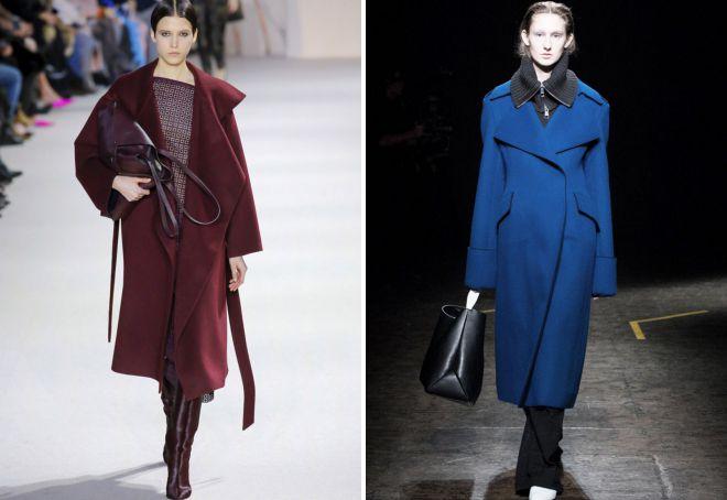 модные цвета пальто осень 2018