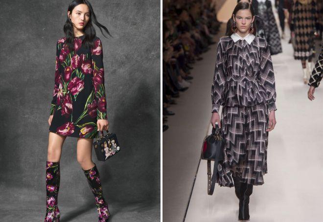 модные цвета и принты сезона осень 2018