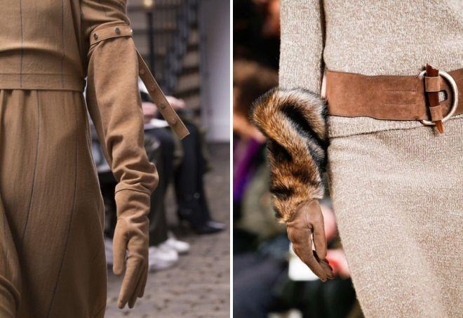 женские длинные замшевые перчатки