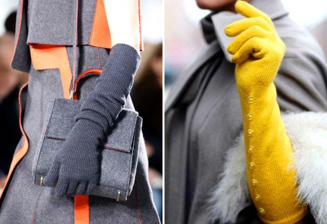 женские длинные трикотажные перчатки