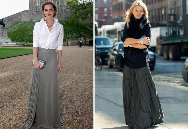 3dd2f1ea818 С чем носить серую юбку – длинную