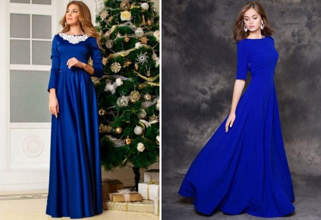 013cca84019 Красивое синее длинное платье – в пол