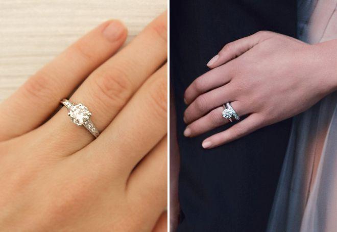 кольцо тиффани с бриллиантом