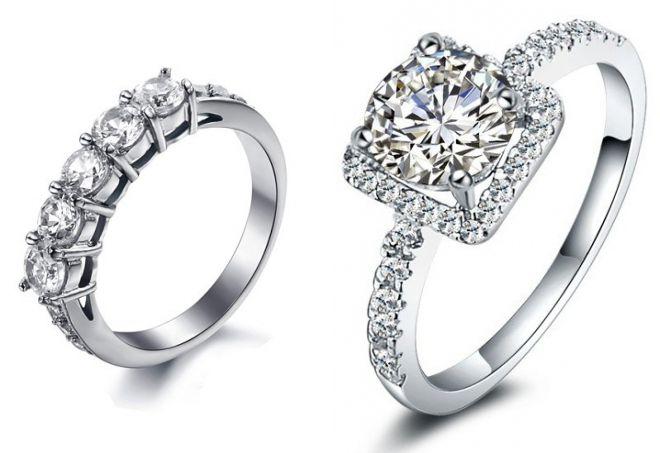 серебряное кольцо тиффани