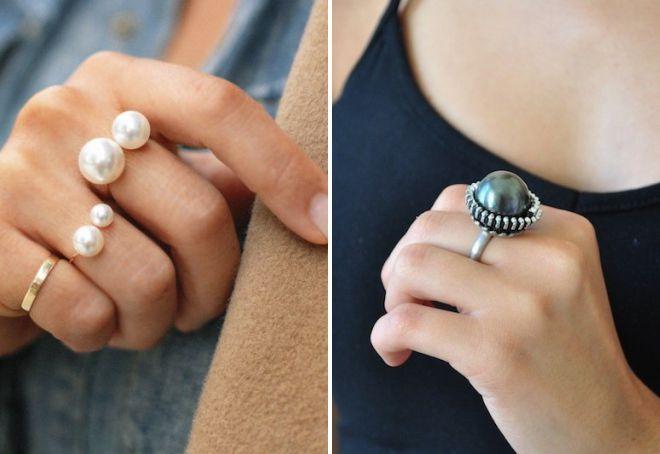 на каком пальце носят кольцо с жемчугом