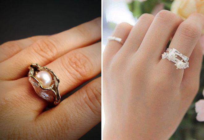 сколько стоит кольцо с жемчугом