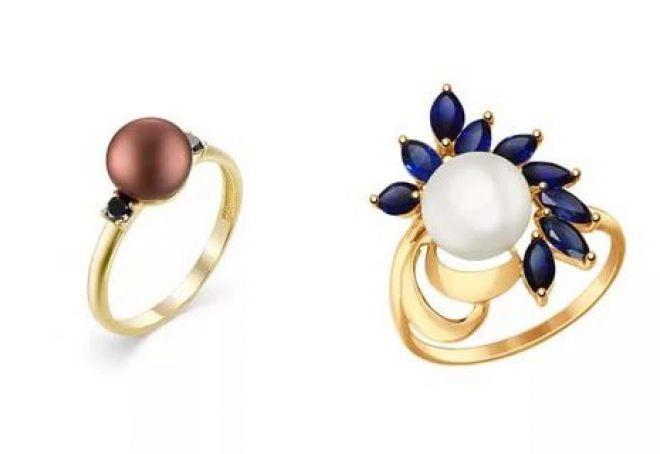 женские кольца с жемчугом
