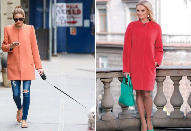 модели пальто без воротника