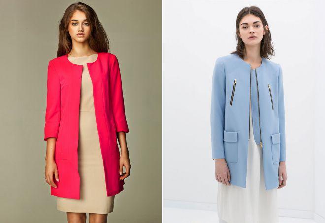 женские легкие пальто без воротника