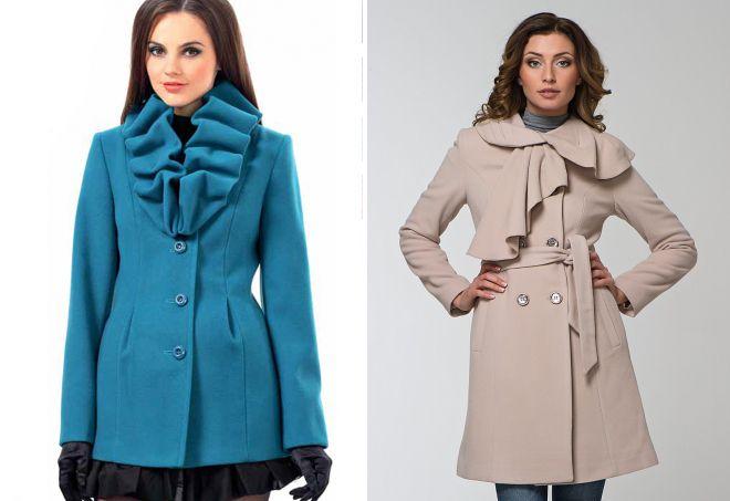 manteau à volants