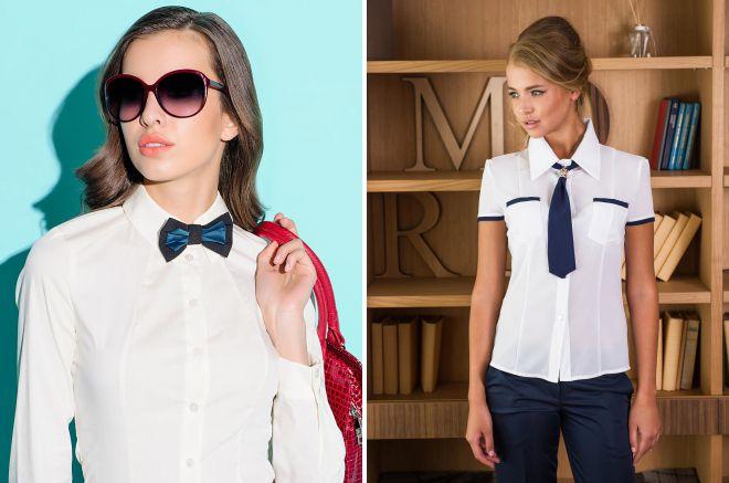 виды женских галстуков