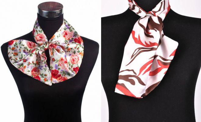 французский галстук для женщин