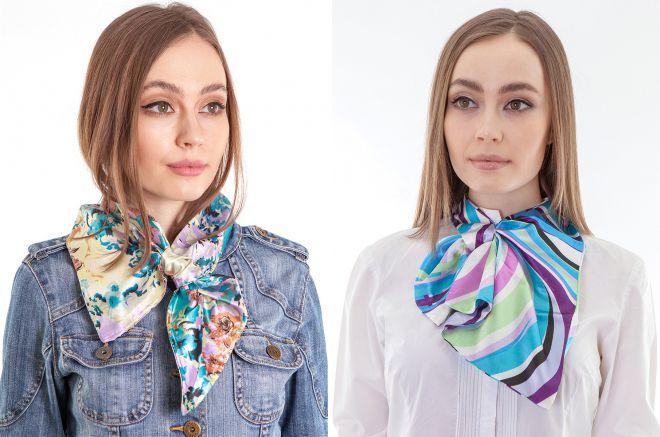 женский платок галстук